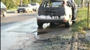 Циркови артисти изгасиха горяща кола със собствена пожарна
