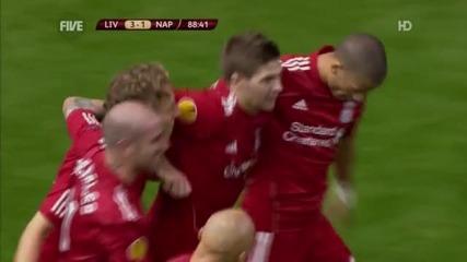 Liverpool 3 - 1 Napoli - Gerrard Goal