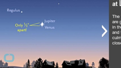 Double Star Moment for Jupiter and Venus in the Night Sky
