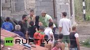 България: Роми се възпротивяват на разрушаването на домовете им
