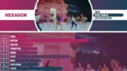 Twice - Heart Shaker Line Distribution Color Coded -