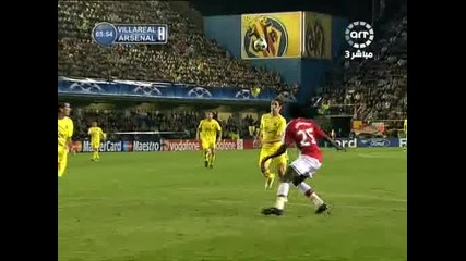гол на Емануел Адебайор ! Виляреал 1 - 1 Арсенал 07.04.09
