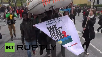 Germany: Thousands hold May Day rally for refugee rights in Hamburg
