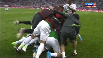 Силвестре Варела със силен шут прати топката в мрежата и даде 3 точки аванс на португалците
