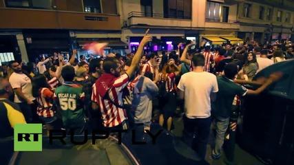 Испания: Фенове отпразнуваха историческата победа на Барселона в Испанската Суперкупа