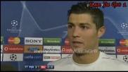 Кристияно Роналдо - Интервю,  част 1 - 15.04.09