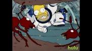 Голям Смях! Холмър И Космическия Чипс The Simpsons - Space Chips