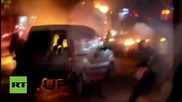 Turkey: Protesters in Istanbul pelt police with MOLOTOV COCKTAILS