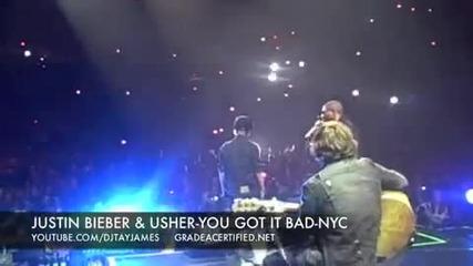 Justin Bieber ft. Usher - You Got It Bad - Live