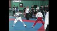Полуфинал на категория до 57кг., семи - контакт, Национално първенство
