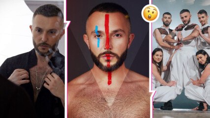 Ах, какъв скандал! Македонският изпълнител за Евровизия показа българско знаме и заяви: Българин съм
