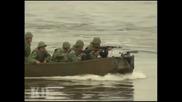 Руската Армия - Обучение за преминаване на водна преграда