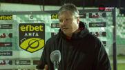 Любослав Пенев: Закъсняхме за мача
