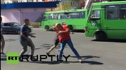 Ukraine: Man beaten in front of police for wearing Soviet t-shirt in Kharkov