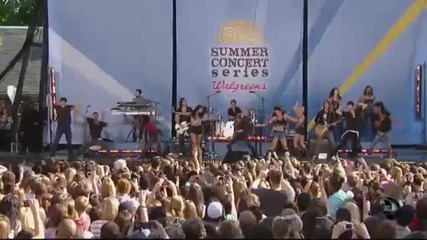 Miley Cyrus - Can t Be Tamed - Live On Gma 2010 Summer Concert