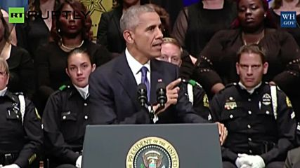 Obama Urges US to 'Reject Despair' in Address to Dallas Police