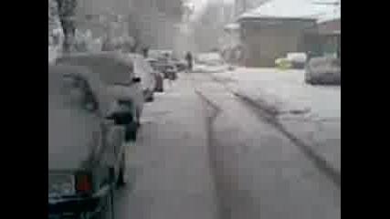 Сняг в Загора