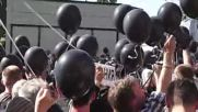 Ukraine: Relatives of Odessa massacre victims mourn at Trades Union House