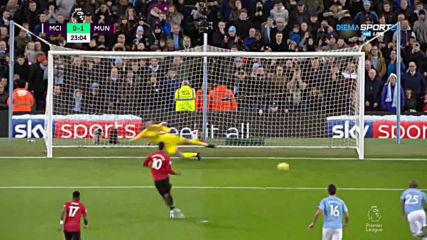 Манчестър Сити - Манчестър Юнайтед 0:2 /първо полувреме/