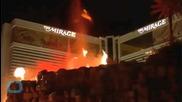 Хотел с изумителен вулкан във Лас Вегас
