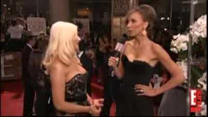 2011 Golden Globes Christina Aguilera