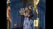 Slammy Awards 2009 - Extreme Momennt Of The Year... Jeff Hardy скача от стълба върху Cm Punk