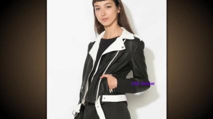 Zee Lane Denim Яке в черно и бяло от изкуствена кожа