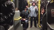 Harlem Shake Баба в автобус