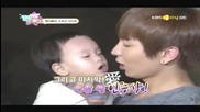 111013 Hello baby episode 7 Leeteuk kissing Kyumin cut
