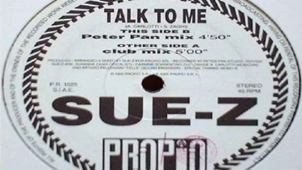 Sue-z - Talk To Me ( Club Mix ) ( Italodance 1995 )