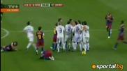 Блъскане и бой след резила на Реал Мадрид