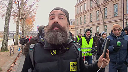 France: Yellow Vests join strike against pension reform plan in Paris