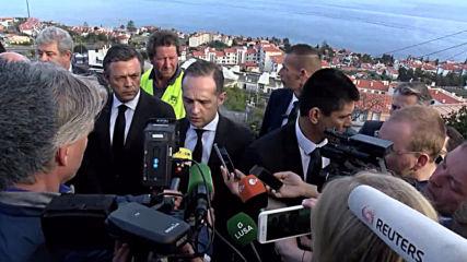 Portugal: German FM Maas visits Madeira bus crash site