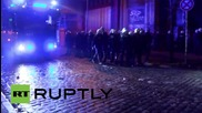 Germany: Riot police use water cannon to extinguish anti-fascist fire