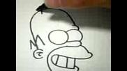 Как Да Нарисувами Хоумър Симпсън