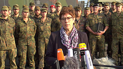 Germany: AKK pushes for 'internationally-monitored safe zone' in northern Syria