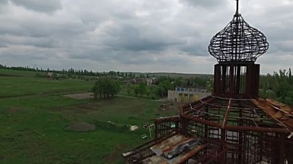 Ukraine: Drone footage captures Church destroyed by Ukrainian army in Donetsk