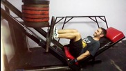 Лег преса 200 кг - No Pain, No Gain!
