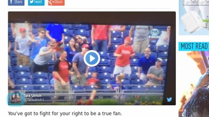 Mean Phillies Fan Steals Home Run Ball From Old Woman