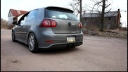 Vw Mk v R32 Turbo Custom Exhaust Ревв!!