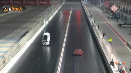 Lexus Isf излита от пистата като самолет заради високата скорост (поглед от друга камера)