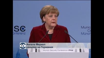 Меркел: Има шанс за мирна уреждане на кризата в Украйна