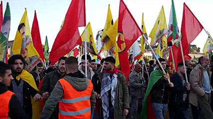 Italy: Kurds march in Rome to protest Turkish military operations