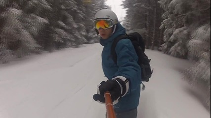Riding in the woods - Snowboarding 2