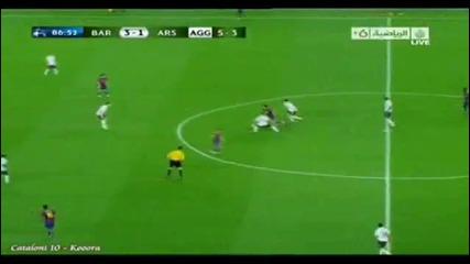 Меси срещу Арсенал! 4 гола! Меси изяде Арсенал Барселона - Арсенал 4:1! 06.04.2010