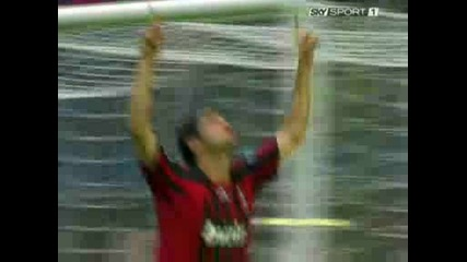 Milan - Fiorentina 1 - 1(kaka,  Mutu).avi