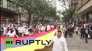Първомайски сблъсъци по улиците на Богота