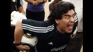 Най - злобната физиономия правена от Марадона