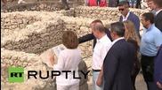Russia: Putin and Berlusconi visit National Reserve of Chersonesos