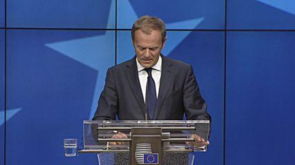 Belgium: Tusk warns UK there can be no 'single market a la carte'